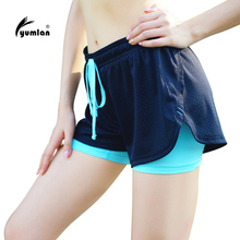 Women Running Shorts Sport Fitness Yoga Shorts 2 In 1 Women Athletic Shorts Cool Ladies Sport Female Fitness Clothes for Jogging