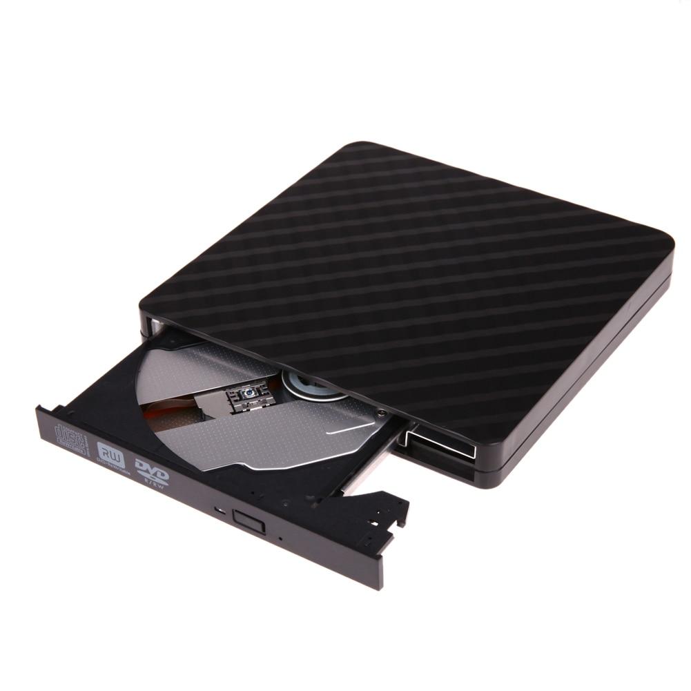 Black External Drive Mobile Laptop Notebook Computer Universal DVD Burner USB External Drive CD/DVD Reader/Recorder