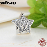 Wholesale Fashion 925 Sterling Silver Wishing Star Charm Beads Fit Original WST Bracelet Pendant Authentic Jewelry Gift
