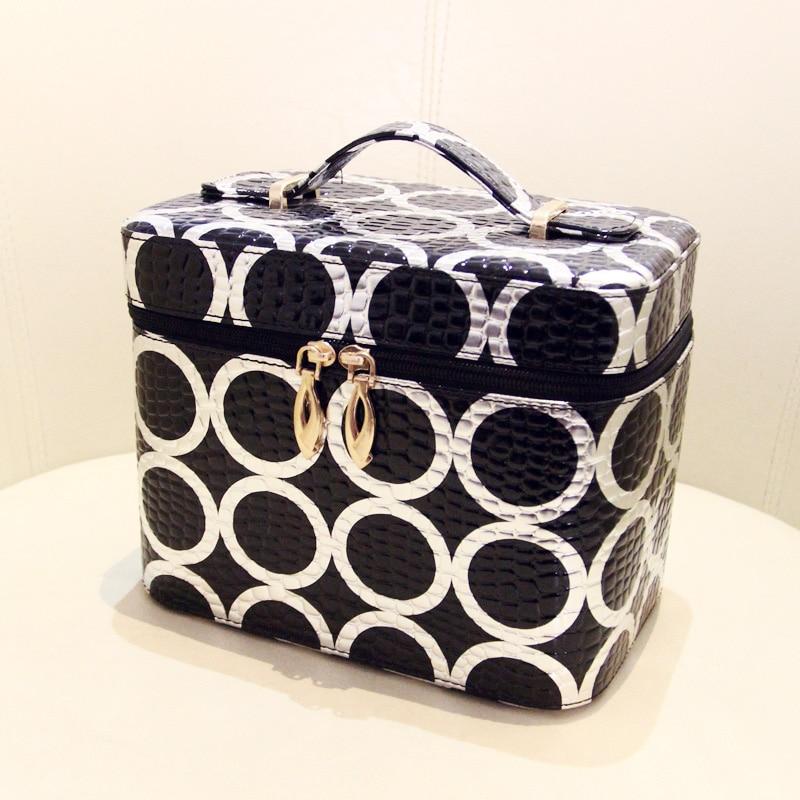 ФОТО 2017 New Korean Fashion Portable Waterproof Women Makeup Bag Make Up Storage Organizer Box Travel Pouch Beauty Case