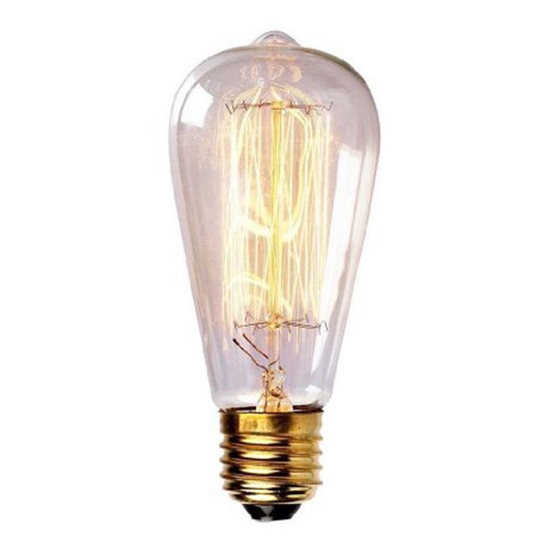 High Quality ST64 E27 40W/60W Filament Light Bulbs Vintage Retro Industrial Edison Lamps For Indoor Home Decor Drop Shipping