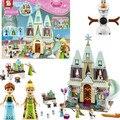 Serie de la muchacha Romántica Princesa Castillo de Cenicienta SY371 Anna Elsa hotBuilding Bloques de Ladrillos Educativos Niños Juguetes de Niña