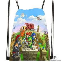 Custom The Legend Of Zelda Drawstring Backpack Bag Cute Daypack Kids Satchel Black Back 31x40cm 180611