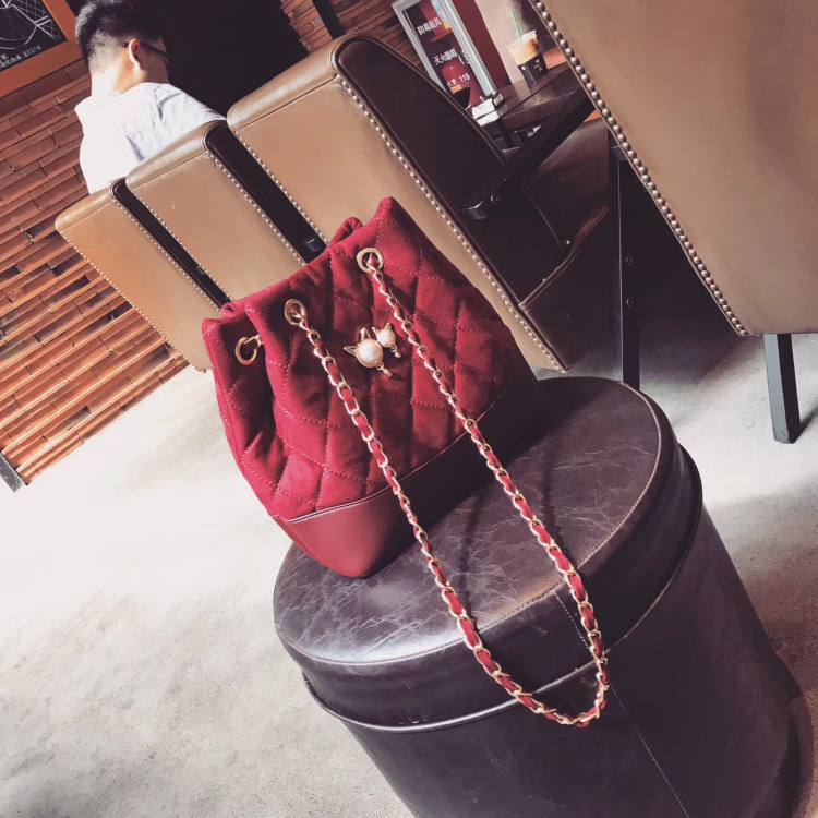 Hot Multi-functional Velvet Bucket Bag Vintage Classic Quilted Chain Bag Small Crossbody Bags For Women Handbags High Quality 1000g 98% fish collagen powder high purity for functional food