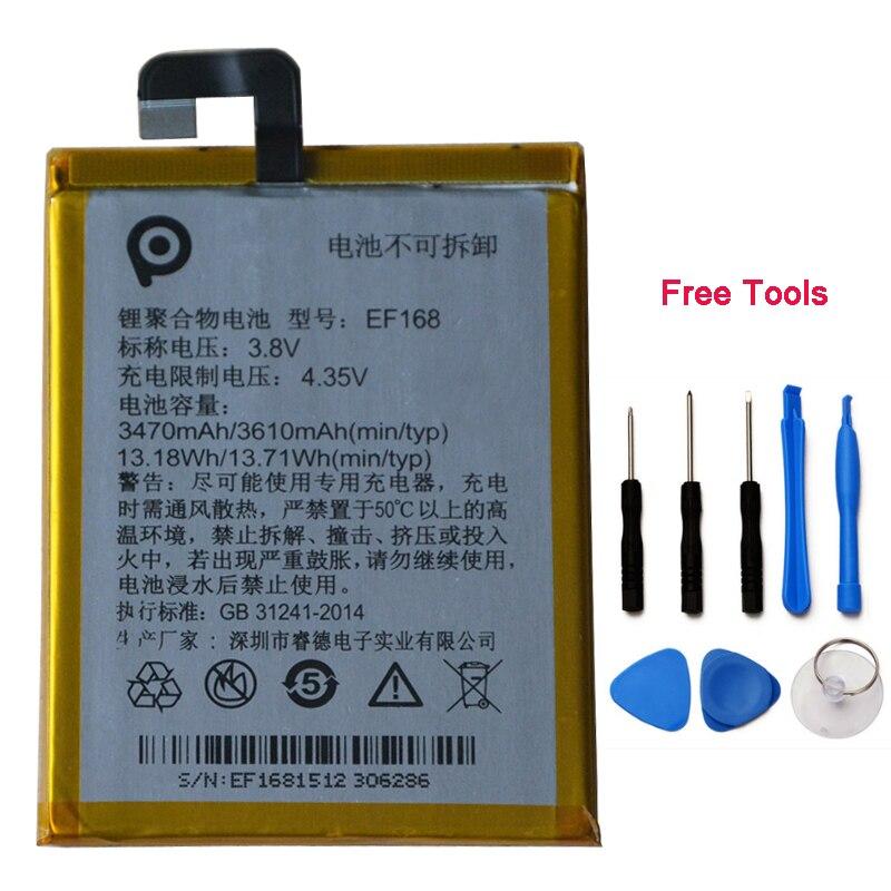 NOUVEAU 3610 mah EF168 Batterie Pour PPTV roi 7 roi 7 s PP6000 Téléphone Portable Rechargeable Batteries avec outils + numéro de suivi