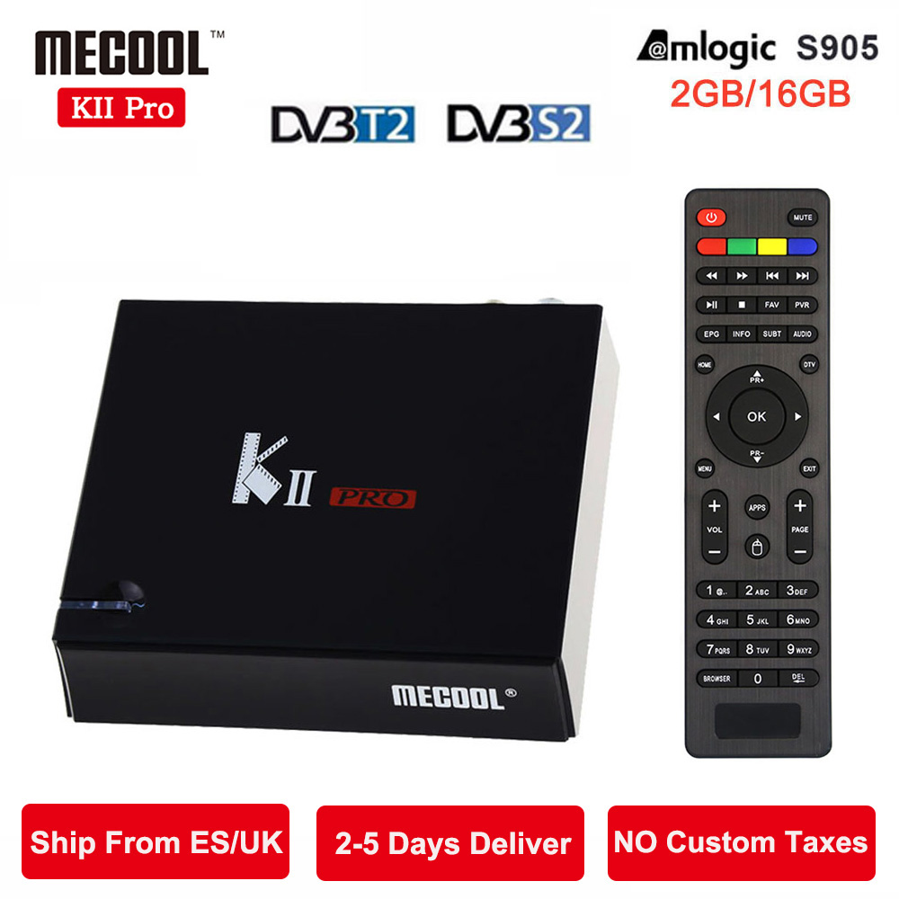MECOOL KII Pro Android 5.1 TV Box 2GB+16GB DVB-S2 DVB-T2 Pre-installed Amlogic S905 Quad-core Bluetooth Smart Media Player k1 dvb s2 android 4 4 2 amlogic s805 quad core tv box