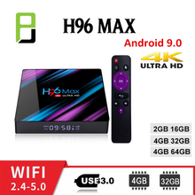 цены на TV Box android 9.0 H96 MAX Smart TV Box 4GB Ram 32GB/64GB RK3318 H.265 video decoder WiFi 2.4G/5G h96 pro TV Set Top Box  в интернет-магазинах