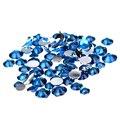 Cielo Azul Pegamento En Los Rhinestones de la Resina 1000 unids 2-5mm Ronda Facetas Hotfix Flatback Chatons DIY Joyería fabricación de los Accesorios