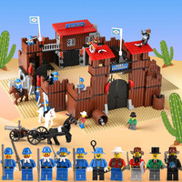 Lepin 33001 742Pcs Western The Idian Cowboy`s Castle Fort Building Blocks Bricks Toys for Children 6769 Christmas Gift Classic