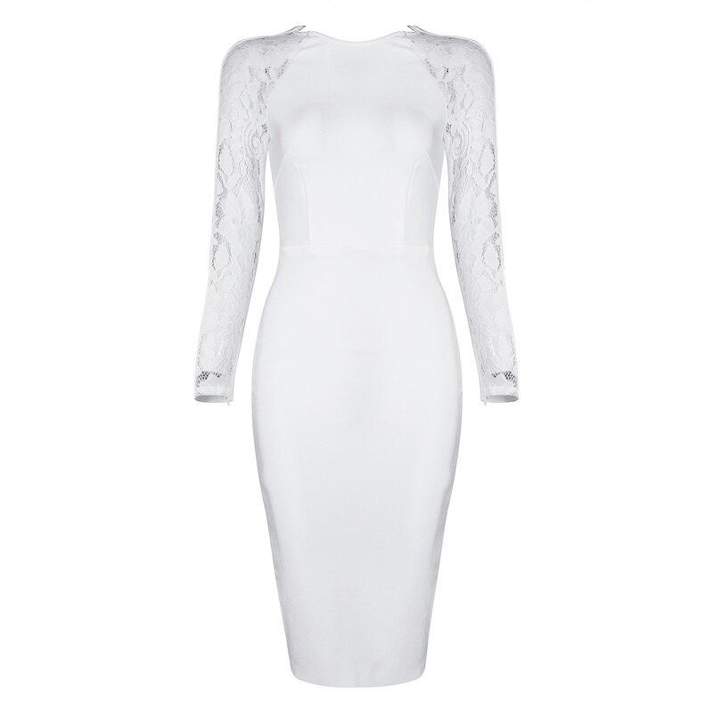 Femmes Lacée Robes Cou Manches Gosexy Automne Lady Douille black White Solide Nouveau O 2018 Robe Élégant Pleine 7yYbf6gv