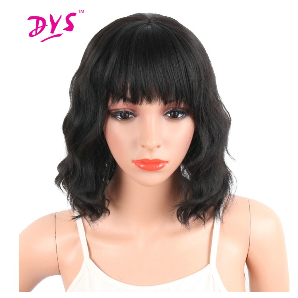 how to style synthetic hair deyngs pixie cut synthetic wigs with bangs for black 7674