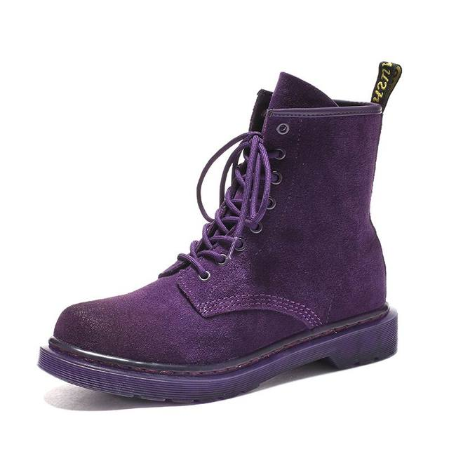 Man Purple Ankle Boots For Male Black