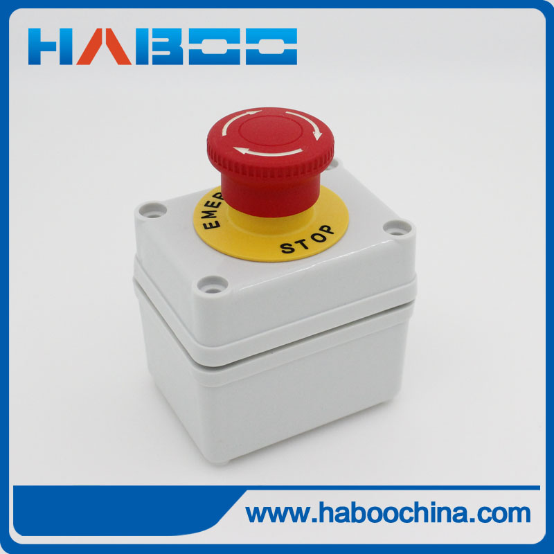 1set PACKING HABOO 16MM emergency stop switch +box 1NO+1NC