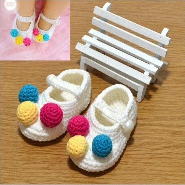 Handmade Newborn Baby Krippe Schuhe Infant Jungen Mädchen Häkeln ...