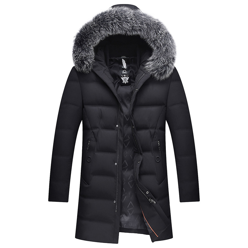 2017 Thick Down Jacket New Long Winter Down & Parkas Warm Fashion Business 90% White Duck Down Jackets And Coats Brand Clothing стоимость