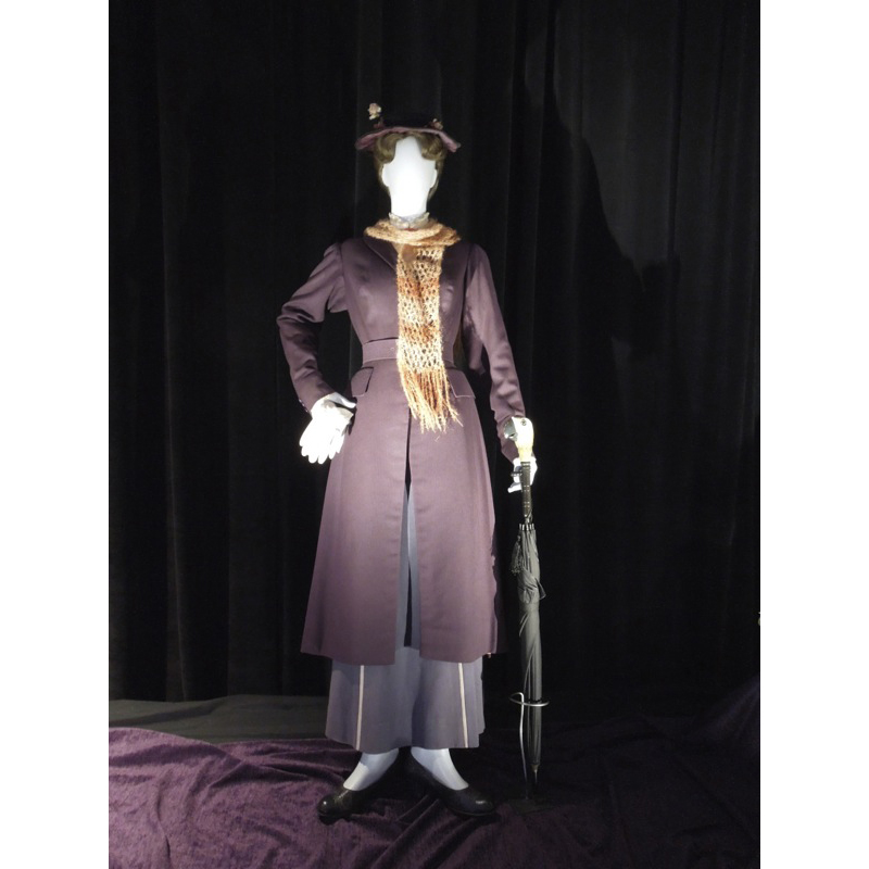 Pre-Order Movie Mary Poppins 2 Cosplay Costume Adult Women Long Trench Pants Cosplay Costume Custom Made Any Size L320