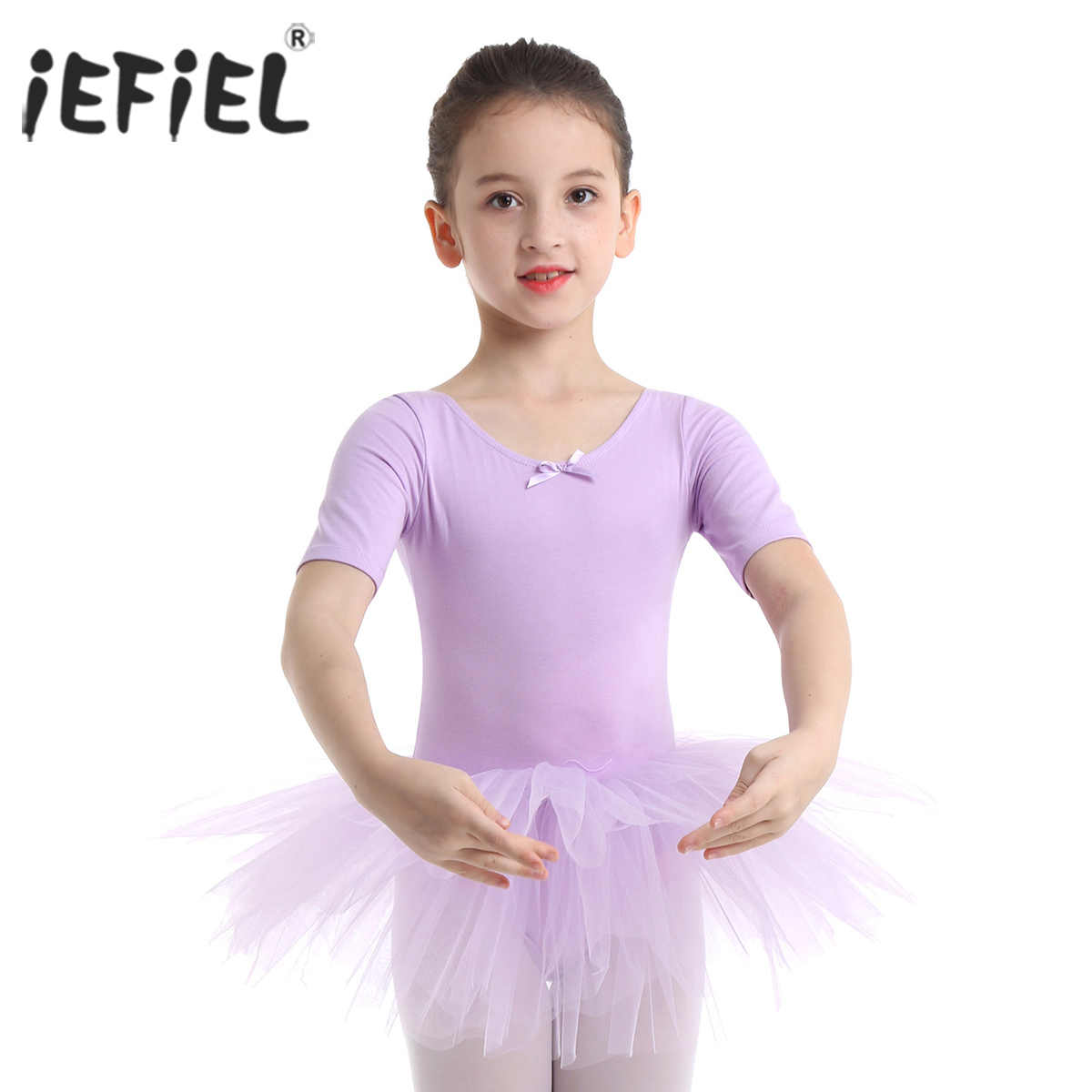 29486b768 IEFiEL Teen Kids Girls Party Tulle Ballet Dance Wear gimnasia ...