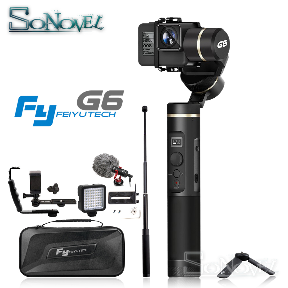 Feiyutech Feiyu G6 Splash Proof 3-axis Handheld Gimbal for Gopro HERO5 HERO4 HERO6 Action Camera Stabilizer xiaomi yi RX0 цена
