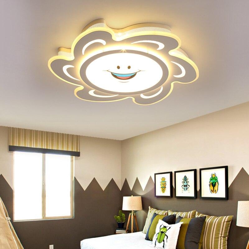 купить Baby cartoon ceiling lights modern led lamp protect eyesight kids room Children room 90~260V ceiling lamp LED lamparas de techo по цене 6221.77 рублей