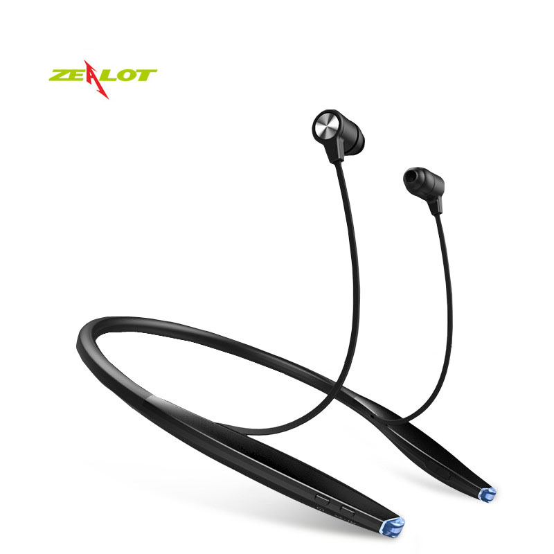 Zealot H7 Wireless Earphones Neckband Bluetooth Headset In-ear Earphones For IPhone Magnet Earpiece 2 In 1 With Microphone New hoco e7 super small earpiece music earphone bluetooth in ear handsfree wireless earphones with microphone