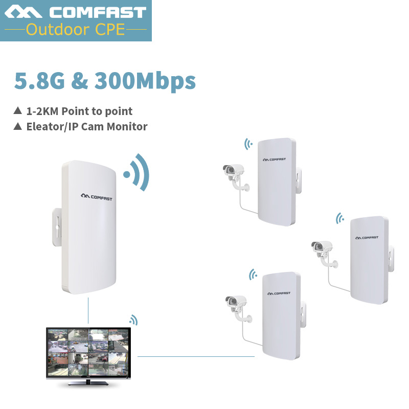 Comfast 5G Wireless router 2KM WIFI signal booster Amplifier Outdoor router WDS Network bridge 11dBi Antenna access point comfast wireless outdoor router 5 8g 300mbps wifi signal booster amplifier network bridge antenna wi fi access point cf e312a