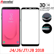 3D Curved Full Cover Tempered Glass For Samsung Galaxy J4 2018 J6 Screen Protector J7 J8 Film