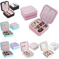 Fashion Mini Jewelry Box Leather Cosmetic Casket Travel Bag Ring Storage Case For Girl Makeup Box Free Shipping