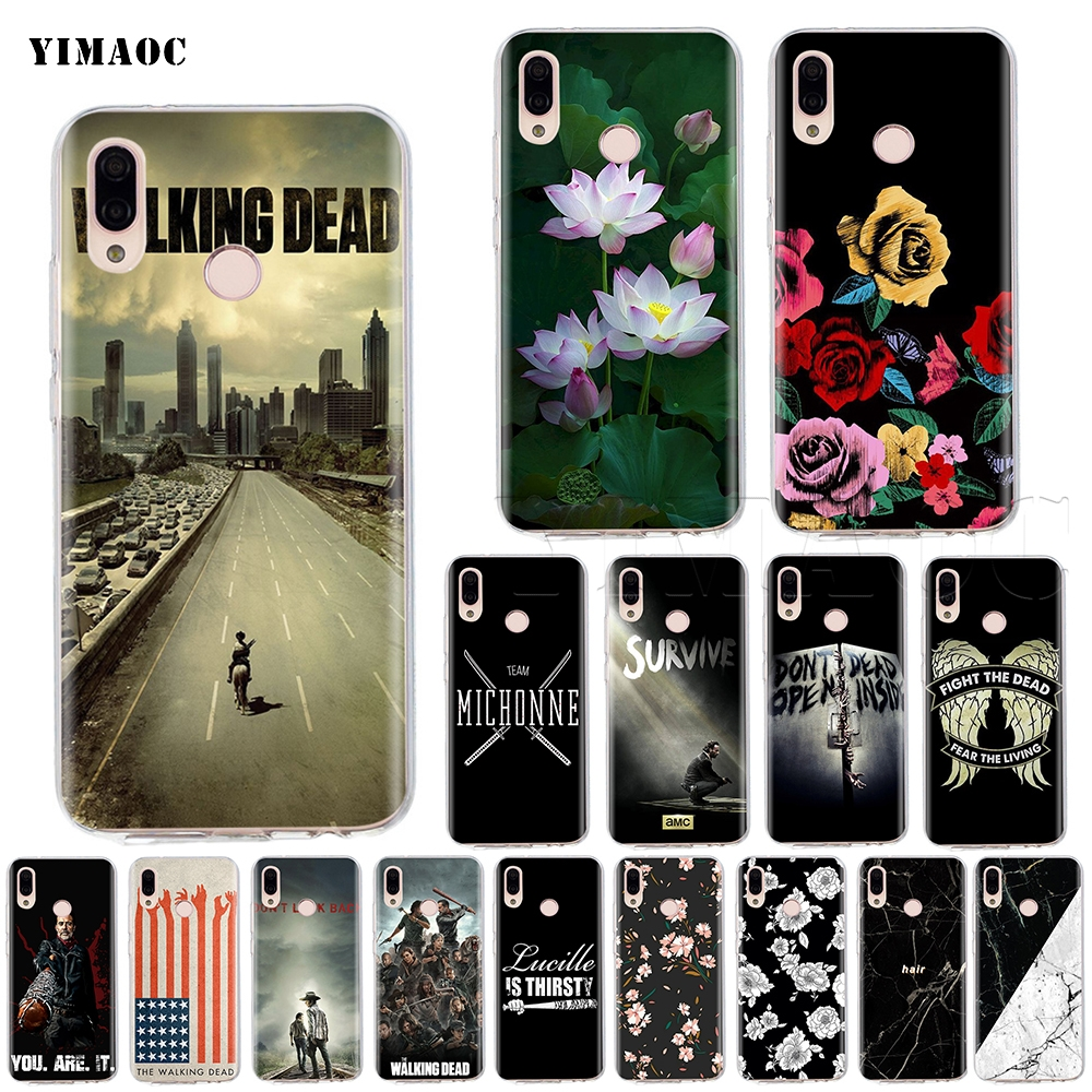 YIMAOC The Walking Dead Silicone Case for Huawei P8 P9 P10 P20 P Smart Lite Pro Mate 10 Y6 Prime 2018