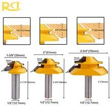 Rct 45 Graden Lock Mijter Router Bit 1/2 Schacht Tenon Cutter Frezen Voor Mdf Multiplex Hout Cutter Houtbewerking gereedschap