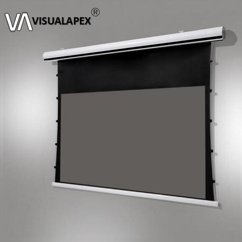 T2HALR-16:9 HDTV 4 K/8 K Premium Luce Ambiente Rifiuto MotorizedTab tesa Schermi Ideale per Qualsiasi Stanza ambiente