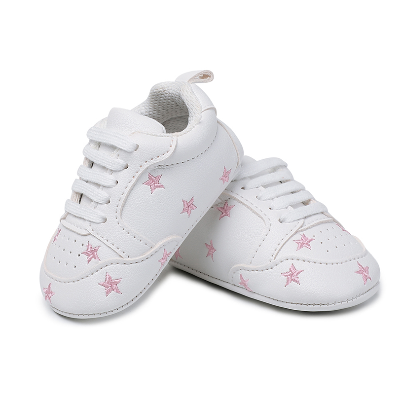 Hot Multiple Star Baby Girl Shoes first walkers Lace-up Fashion Baby Shoes For 0-18 Months