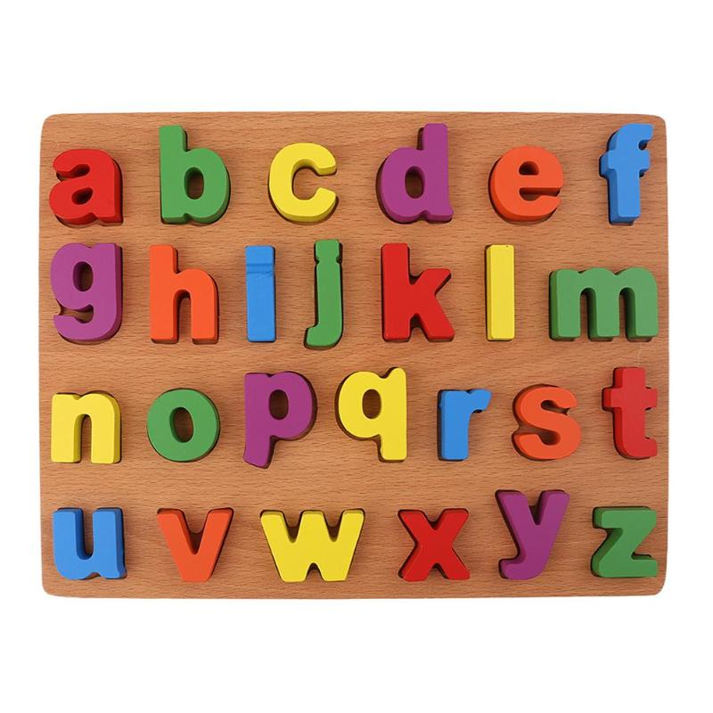 26pcs Wooden Letters Puzzle Toy Baby Alphabet Early ...