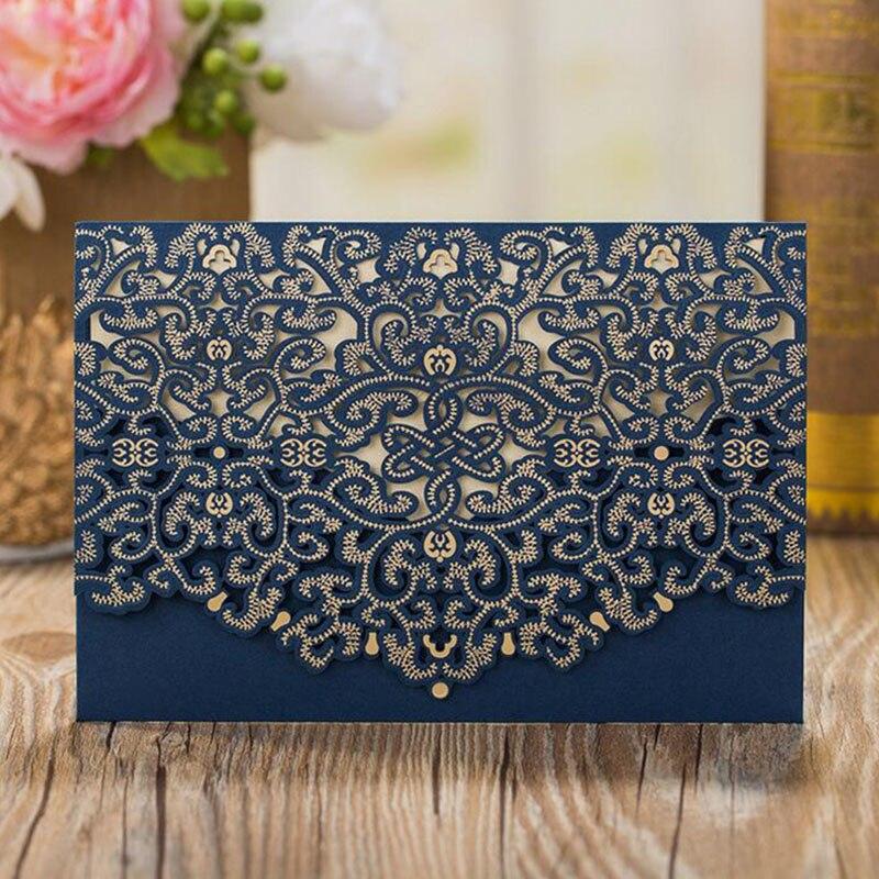Motif floral bleu paris carte postale Personnalisé Fête D/'Anniversaire invitations
