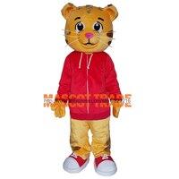 Bán Như Tôm Tươi Daniel Tiger Mascot Trang Phục Daniel Lông Hổ Trang Phục Linh Vật