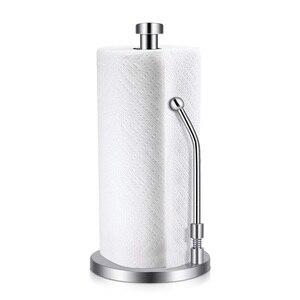 Image 1 - Papier Handtuch Halter Edelstahl Stehende Tissue Halter Einhand Reißen Perfekte Moderne Design für Küche Hält Küchen