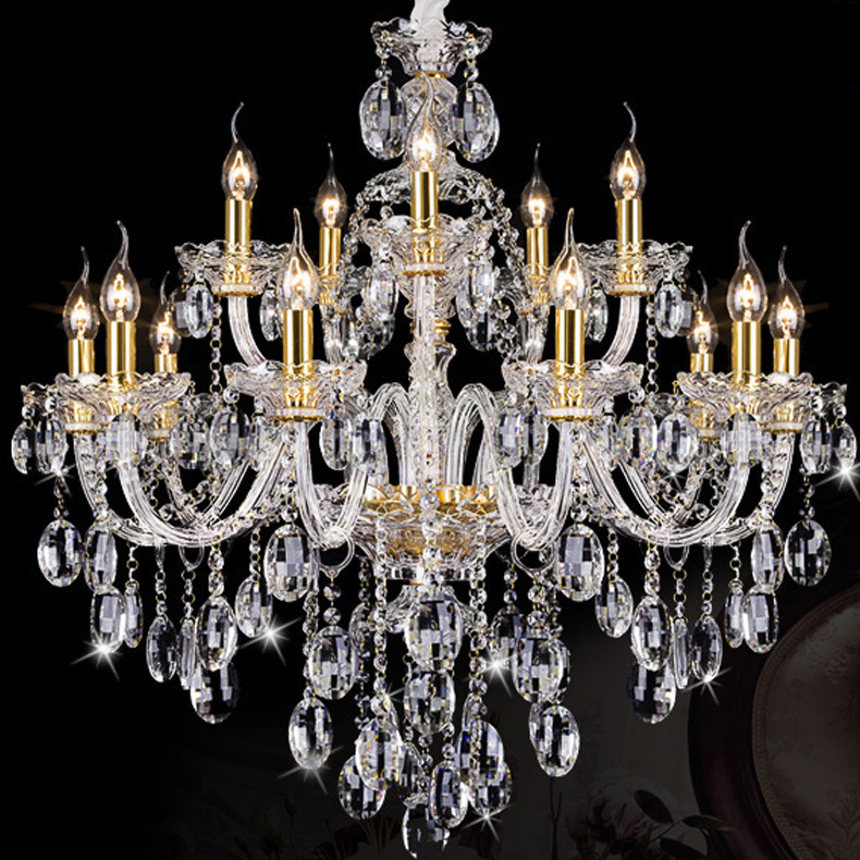 Aliexpress Buy Italy antique gold candle chandelier led – Candle Crystal Chandelier