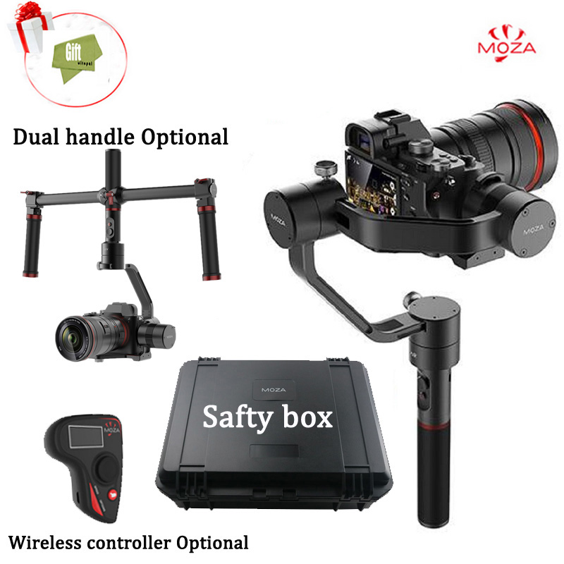 MOZA Air 3 Axis DSLR Gimbal Handheld Stabilizer Dual handle Case For Canon SONY A7 Cameras Load 2.5KG VS Zhiyun Crane latest 2017 version zhiyun crane 3 axis handheld stabilizer gimbal for dslr canon sony a7 cameras load 1800g