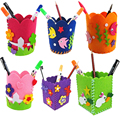 Cute Creative Handmade Pen Container DIY Pencil Holder Kids Craft Toy Early Educational Handcraft Kit Toy for Kids Children