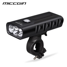 MICCGIN T6 LED MAX 1000 Lumens 18650 Bike Front Light Lantern For Bicycle Cycling Flashlight USB Rechargeable Waterproof Lamp(China)