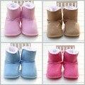 Botas de Neve Do Bebê Recém-nascido 8-cores 2016 Camurça Inverno Das Meninas do Menino Do Bebê Sapatos Quentes Macios Crianças Sapatos Da Criança Primeiro Caminhantes D02