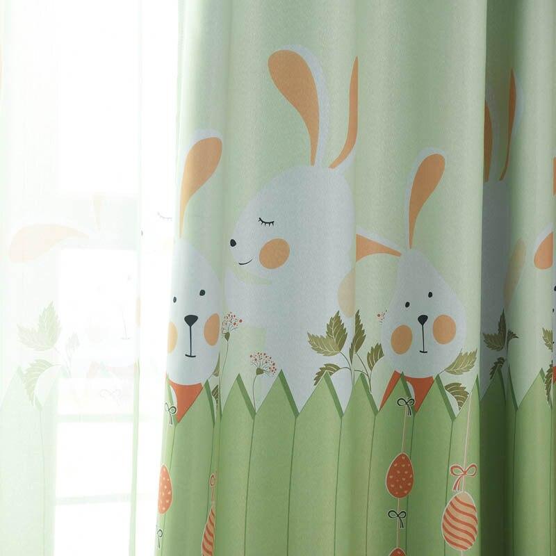Nursery School Kids Curtain Rabbit Baby