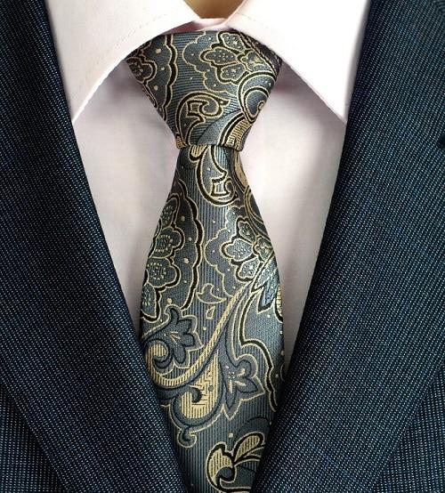 Klasična muška svilena kravata za vrata od 8 cm, vezanje paisley i - Pribor za odjeću - Foto 4