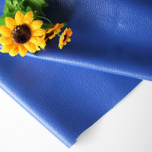 Royal Blue DIY Sewing Patchwork Leather Fabric Synthetic Pu Material Plain Color Printed Faux Artificial
