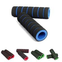 1 Pair Bicycle handle 1pair Bike Racing Bicycle Motorcycle Handle Bar Foam Sponge Cover Non-slip Poignée de bicyclette chromed one pair push up bar with foam handle for arm