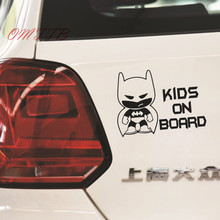 KIDS ON BOARD Car Stickers 19*14cm Vinyl Body Car Decals Motorcycle Stickers car styling Car Accessories