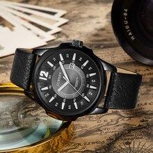 Curren nova moda casual homens relógio de quartzo grande mostrador do relógio de pulso de couro relojes cronógrafo à prova d' água frete grátis 8123