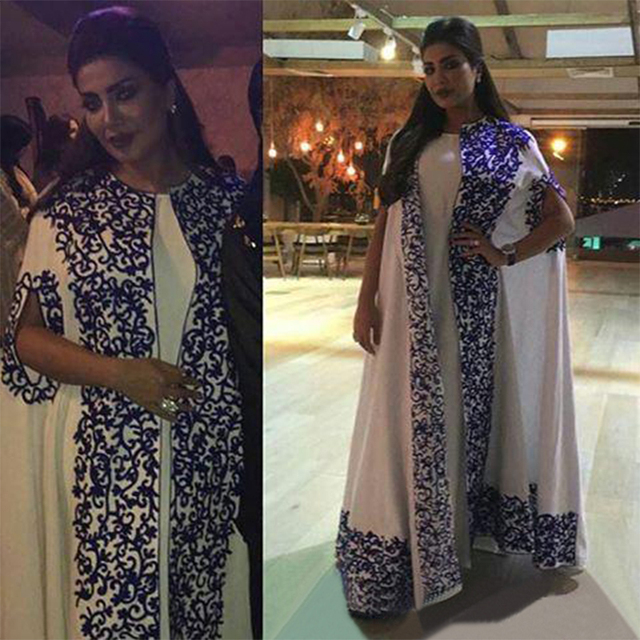 Saudi Arabia Embroidery Evening Dress 2017 Dubai Custom Made Plus ...