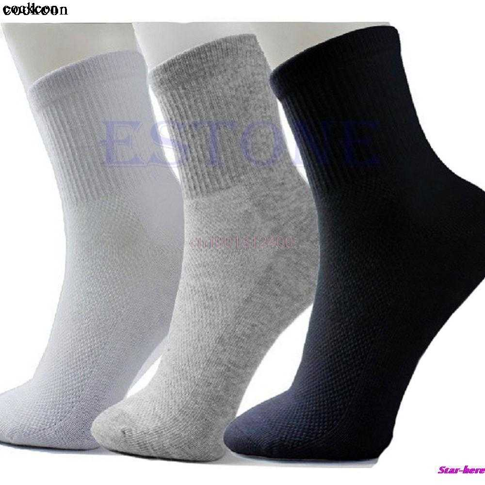 10Pairs Men's Socks Summer Autumn Style Men's Socks Quality Polyester Sock For Men 3 Colors