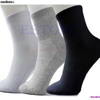 One Set 10 Pairs Man Cosy Cotton Sport Socks For Football Basketball 3 Colors Free Shipping