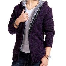 2016 Mens Wool Cardigan Brand Winter Warm Sweater Men Thicken Casual Wear Coat Cotton Long Sleeve Slim Fit Men's Sweaters